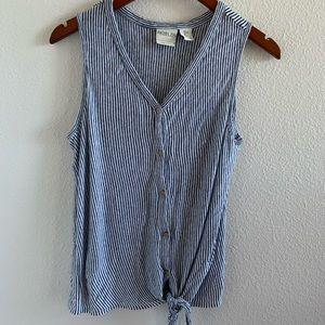 Rachel Zoe Front Tie 100% Linen Top   L